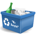 new, Full, trash can SteelBlue icon