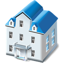 two, Home, Building, storied, house, Sh Lavender icon