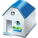 One, storied, Home, Building, house Lavender icon