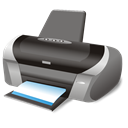 Print, Sh, printer Black icon
