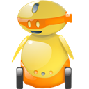 happy, funny, Emoticon, smile, Emotion, Fun, robot Black icon