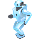 Dancing, robot Black icon