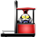 retrack, tux Black icon