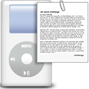 ipod, Dir, File, Directory, document, paper WhiteSmoke icon