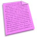 document, Text, File Violet icon