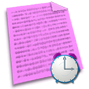 File, paper, recent, document Violet icon