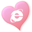 valentine, Heart, Iexplorer, love LightPink icon