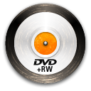 Dvd, disc, Rw Black icon