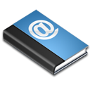 Blue, Book, reading, read, Address Black icon