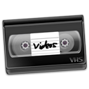 Vhs, video Black icon
