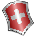 Army, shield, Guard, swiss, security, protect Black icon