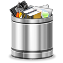 Full, recycle bin, Trash Black icon