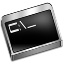 Prompt, Command Black icon