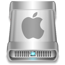 Apple, drive DarkGray icon