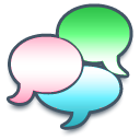 speak, Comment, talk, Chat DarkSlateGray icon