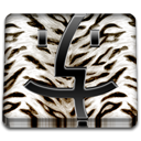 White, Animal, Tiger, Finder Black icon