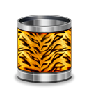 Tiger, Animal, recycle bin, Trash Black icon