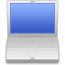 Powerbook, powerbook on RoyalBlue icon