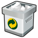 Bin, Full, recycle Silver icon