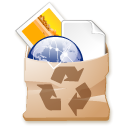 Trash, recycle bin, Full SaddleBrown icon