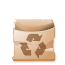 recycle bin, Trash BurlyWood icon