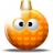 Ball, xmas DarkOrange icon