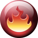 nero, fire Black icon