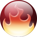 fire, nero Black icon
