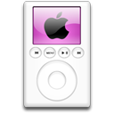 mp3 player, ipod, magenta, alternative Black icon