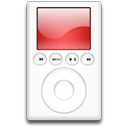 mp3 player, red, ipod Black icon