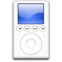 ipod, Blue, mp3 player Black icon