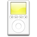 ipod, yellow, mp3 player Black icon