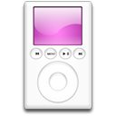 mp3 player, ipod, magenta Black icon