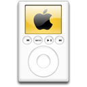 Orange, alternative, ipod, mp3 player Black icon