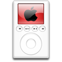 alternative, mp3 player, red, ipod Black icon