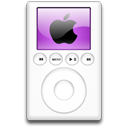 ipod, mp3 player, purple, alternative Black icon