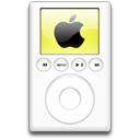 ipod, mp3 player, yellow, alternative Black icon