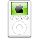 alternative, mp3 player, ipod, green Icon