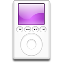 mp3 player, purple, ipod Black icon