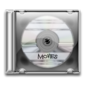 movie, save, Disk, disc, case, Cd, video, film Black icon