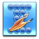 round, square, Circle CornflowerBlue icon