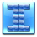 square, plain CornflowerBlue icon