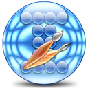 ciircles, warped, globe, earth, planet, world CornflowerBlue icon