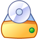 drive, Cd, save, Disk, disc SandyBrown icon