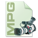 Camera, video, mpg, file type, Mpeg, photography LightGray icon
