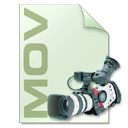 Mov, file type, photography, Camera LightGray icon