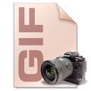 file type, Camera, photography, Gif Black icon