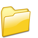 yellow, Closed, Folder Black icon