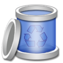 Bin, Empty, recycle, Blank Black icon