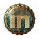 Linkedin, linked, In DarkSlateGray icon